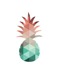 Mint Coral Pineapple Prints by Melinda Wood