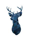 Navy Deer Plakater af Melinda Wood