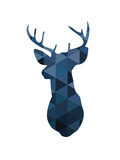 Navy Deer Prints by Melinda Wood
