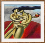 Woman Stealing a Man's Heart Framed Giclee Print by Alberto Ruggieri