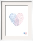 Heart Print Framed Giclee Print by Brett Wilson