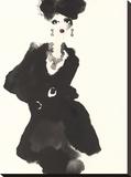 The Little Black Jacket Stretched Canvas Print by Bridget Davies