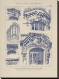 Vintage Motifs d'Architecture I Stretched Canvas Print by  Schmidt