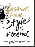 Style is Eternal Stretched Canvas Print by Lottie Fontaine