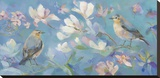 Birds in Magnolia Stretched Canvas Print by Sarah Simpson