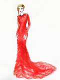 Woman in Red Dress Photographic Print by Anna Ismagilova
