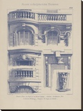 Vintage Motifs d'Architecture II Stretched Canvas Print by  Schmidt