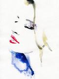 Beautiful Woman. Watercolor Illustration Photographic Print by Anna Ismagilova