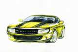 Car. Art Sketch . Sport Car Photographic Print by Anna Ismagilova