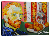 Van Gogh Dinner Stretched Canvas Print by Steve Kaufman