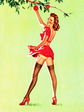 Good Pickin's Pin-Up c1940s Posters by Art Frahm