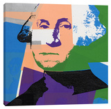 George Washington Stretched Canvas Print by Steve Kaufman