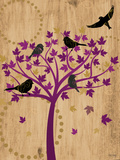 Blackbirds in Tree Posters by Bee Sturgis