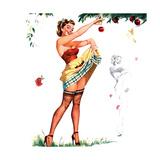 Don't Mind the Stems Pin-Up 1951 Art by Freeman Elliott