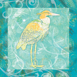 Heron Sea Poster by Bee Sturgis