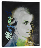 Mozart 5 Stretched Canvas Print by Steve Kaufman