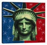 Lady Liberty 2 Stretched Canvas Print by Steve Kaufman