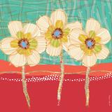 Paradise-Coral+Aqua Prints by Robbin Rawlings