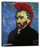 Van Gogh With Mohawk Stretched Canvas Print by Steve Kaufman