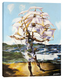 Dali's Ship Stretched Canvas Print by Steve Kaufman