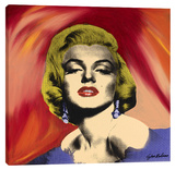 Marilyn With Earrings 2 Stretched Canvas Print by Steve Kaufman