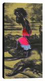 David & Goliath B Stretched Canvas Print by Steve Kaufman