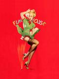Fun House Pin-Up, Thar She Blows 1939 Premium Giclee Print by Gil Elvgren