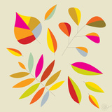 Multi Leaves - 4 Seasons Poster by Dominique Vari