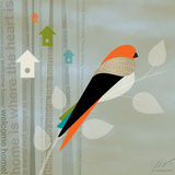 Birds Life - Home Sweet Home Prints by Dominique Vari