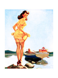 Slip Off Shore Pin-Up 1944 Prints by Gil Elvgren