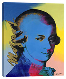 Mozart 1 Stretched Canvas Print by Steve Kaufman