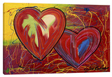 Heart 2 Heart 1 Stretched Canvas Print by Steve Kaufman