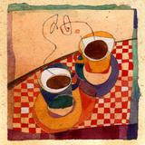 Coffee Cups Poster by Robbin Rawlings