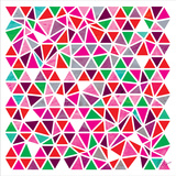 Triangles - Pink and Green Prints by Dominique Vari