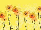 Sunny Sunflowers Art by Bee Sturgis
