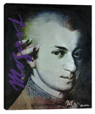 Mozart 4 Stretched Canvas Print by Steve Kaufman