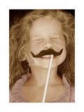 Moustache Girl Premium Giclee Print by Betsy Cameron