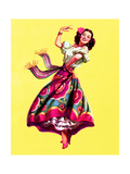 Ole! Dancing Pin-Up c1940s Prints by Art Frahm