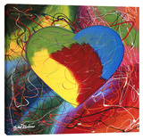Heart Stretched Canvas Print by Steve Kaufman