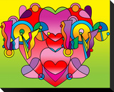 Love Color Heart Stretched Canvas Print by Howie Green