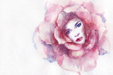 Beautiful Woman. Hand Painted Fashion Illustration Photographic Print by Anna Ismagilova