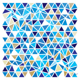 Triangles - Blue and Beige Posters by Dominique Vari