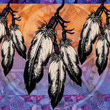 Many Feathers Prints by Bee Sturgis