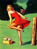 On De-Fence Pin-Up 1940S Prints by Gil Elvgren