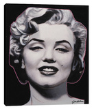 Marilyn Charisma In Grey Stretched Canvas Print by Steve Kaufman