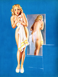 Double Exposure Pin-Up 1940 Premium Giclee Print by Gil Elvgren