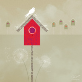 Bird House - Ivory Prints by Dominique Vari