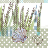 Seaside Dot - Scallop Prints by Robbin Rawlings