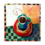 Coffee Cup Prints by Robbin Rawlings