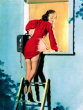 A Lad Her Problem Pin-Up 1940 Prints by Gil Elvgren
